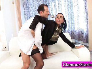 clothed glamour bird oral fuck