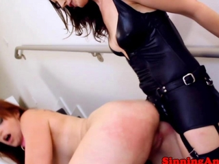 Lezdom female-dom banging dyke