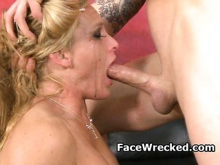 giant Titty bright-haired fresh prostitute Getting Face Pounded