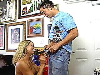 perverted libidinous blonde fucks