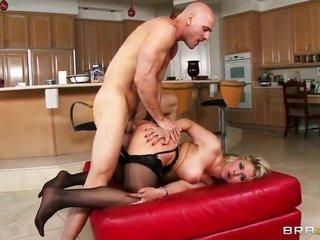 Johnny Sins attacks unbelievably loving Sarah VandellaS cavity with his fancy torpedo