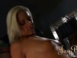 impressive bright-haired group-fucked vulgar in the laundry room