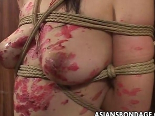 tightened up korean damsel drenched in wax