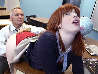 polished instruct counselor having getting laid with a student