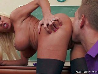 His teacher Nikita Von James is a fuck hungry pretty bodied milf with obese bumpers along with shapely honey. that babe obtains her snatch fucked righ