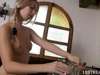 ball batter beautifies sexy sweetheart's boobs