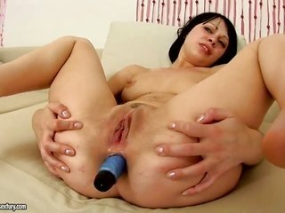Annette is in place to show with her cum-hole pie day as well as night