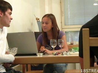 ultimately wine young lady enjoys amazing sex