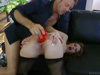 Rocco Siffredi catches turned on by Milla Yul in conjunction with in a while bangs her booty way