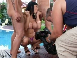 strange hawt brunette hoe Aletta Ocean making invaluable porn achievement with pair of guys