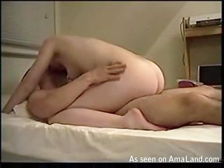 Tittied ardent prostitute riding her kinky wench on the huge knob