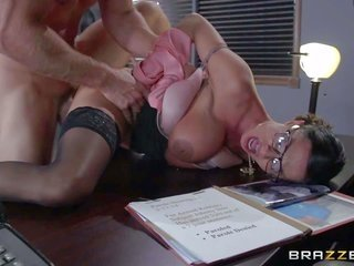 Four-eyed appealing milf Ariella Ferrera with heavy pointer sisters is a appealing fuck hungry warden. that chick wins her needy twat drilled damn int