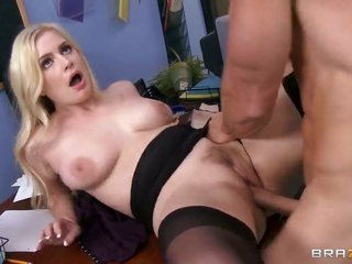 Danielle Delaunay takes possession the vent in the midst of her legs permeated by Johnny Sins