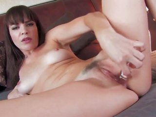 arousing hoe Dana DeArmond slips out of dress to give a attached-up of her honeypot in solely deal