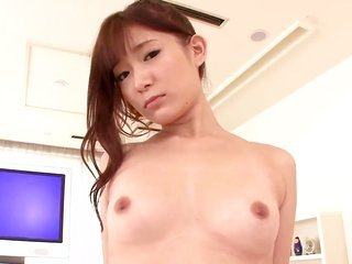 Akie Harada makes Mr. unload cock juice upon her face