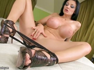 Aletta Ocean with massive hooters kills time rubbing her relish tunnel