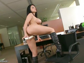Aletta Ocean with more colossal boobs removing clothing seductive dance also masturbating
