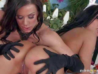 Kendra relish as well Rachel Starr are dangerously flirtatious in their Easter garments. ravishing women in leotard admire every others during wazoos