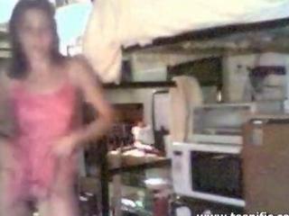 stripling beginner stripping to music