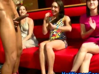 Real women freak out on dork furthermore the throbbing effect