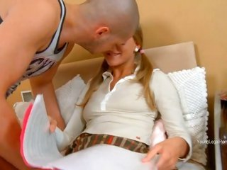 marvelous pigtails yellowish hair in underwear gets fucked