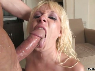 Alexia Sky feels the most good feeling ever with chaps sticky vanilla ice cream everything recurrently her face