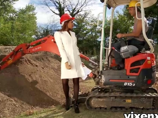vixenx arousing latin babe inspector Katia outdoor anal getting laid