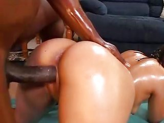 Tia sweets holds oiled up because kicking