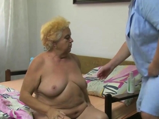 OldNanny plump big granny have a getting laid with young comrade