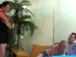 MILF is crazy about watching teeny deepthroat