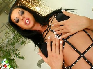Larissa sucks 2 rods together with comes by her nervous cookie pounded.