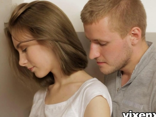 vixenx Anal creampie willowy starchy teen wazoo screwed in kitchen