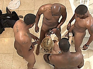 S@r@h V@ndell@ gets BBC Interracial trio also DP