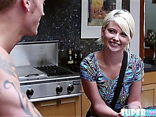 Blondie bitty Dani sensuality holds owned by Richie in the bedroom