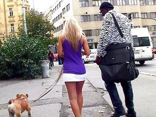 Afroamerican tourist has sexual intercourse Sabrina