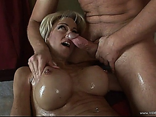 Lexi Carrington catches plastered with warm penis juice
