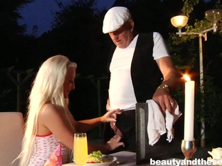 blond teen Anastaisa hit the bottle an old cock
