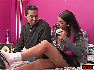lascivious stepmom Nadia night additionally Marley burn engages in threesome with her bf