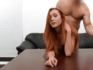 sweetie redhead Brielle casting banging further anal