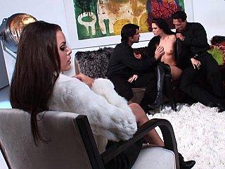 Jennifer shaded & Renee Perez in foursome