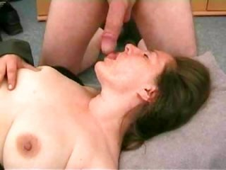 MILF smooth wife takes cumload on face