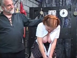 bulky redhead toyed in addition to booty fingered by developed guy