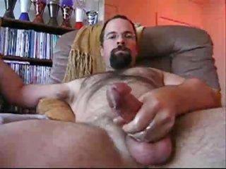 Bearded padre wanking