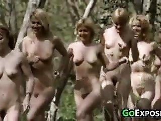nude cuties In The Woods