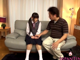 little japan schoolgirl stimulated with toys