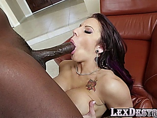 luxurious with dark hair Lylith Lavey comes into destroyed by Lexington Steeles bbc